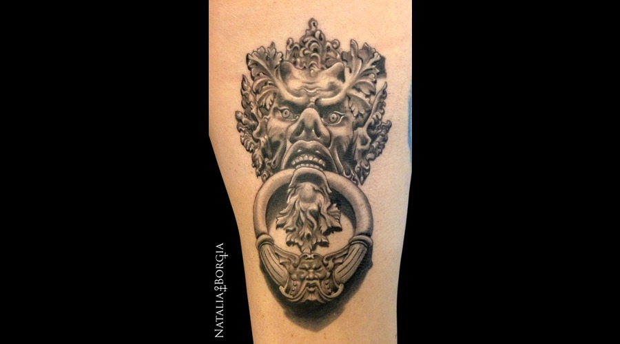 Demon  Door  Knocker  Greenman  Devil Thigh