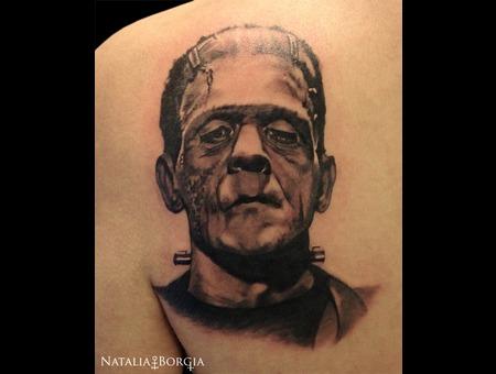 Frankenstein  Monster  Movie  Horror Back