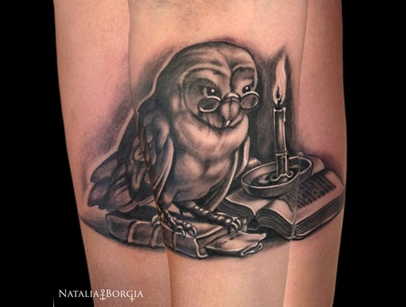 Owl  Candle  Book  Night  Bird  Reading Forearm