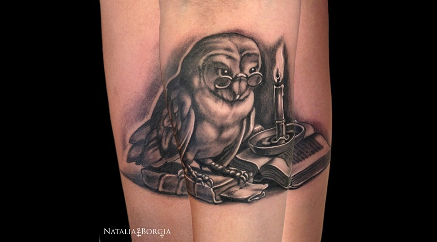 Owl  Candle  Book  Night  Bird  Reading Forearm
