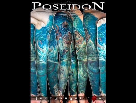 Poseidon  Sea  Mythology  Monster  Shark  Corals Color Arm