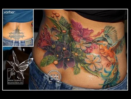 Cover Up  Arschgeweih  Bird  Flowers  Flower  Tribal Back