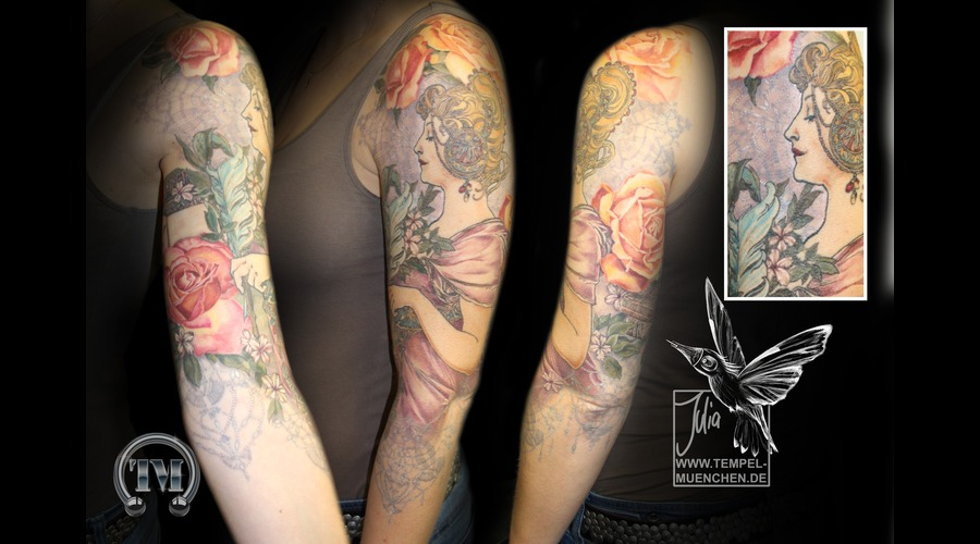 Mucha  Books  Roses  Sleeve  Lace   Color Arm