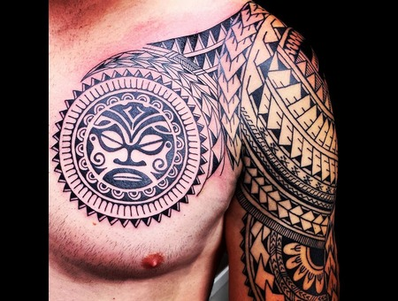 Tattoo  Polynesian  Maori  Samoan Chest
