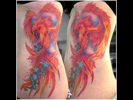 Missnico Phoenix Ribtattoo Colortattoo Fire Berlintattoo Ribs