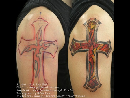 Cross Cover Up Arm