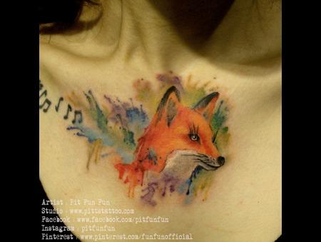 Watercolor Fox  Chest