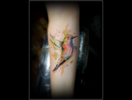 Watercolor Bird Forearm