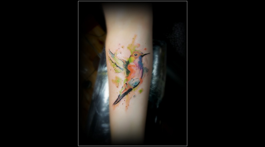 Watercolor Bird Forearm