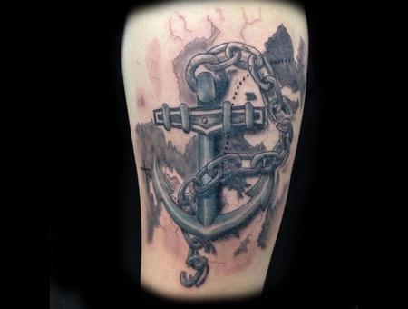 Tattoo  Anchor  Map  Treasure  Chain   Arm