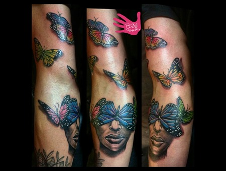 Color  Realism  Butterfly  Aus  Sydney  Face  Art  Arm