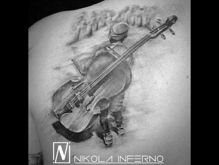Music Tattoo   Musician Tattoo  Back