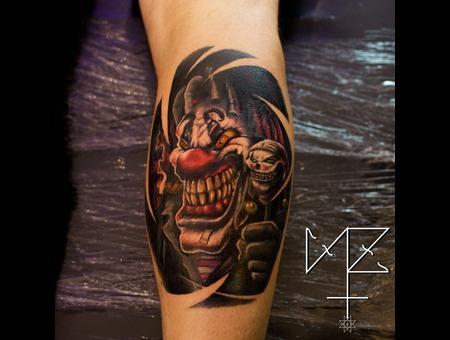 Evil Clown  Clown Color Lower Leg