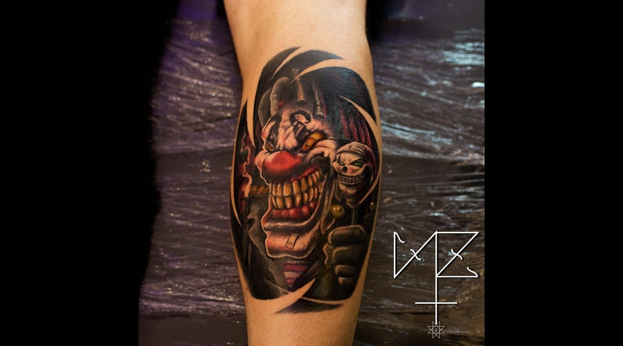 Evil Clown  Clown Color Lower Leg