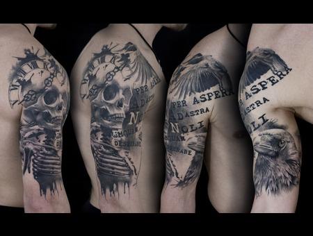 Skull   Crow  Arm