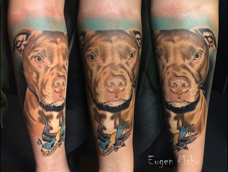 Tattoo  Art  Realistic  Dog Arm