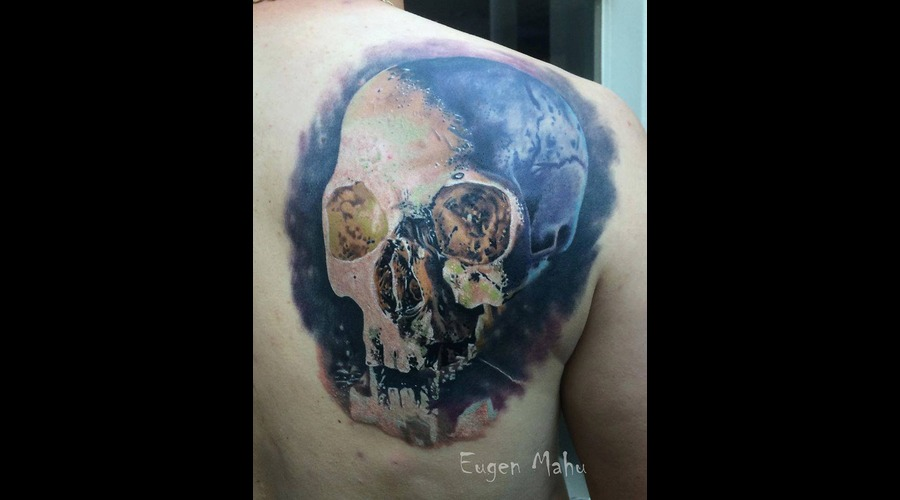 Tattoo  Art  Realistic  Skull Shoulder