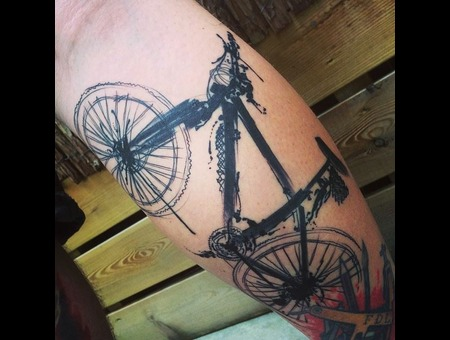 Tattoo  Art  Bike  Trashy Lower Leg