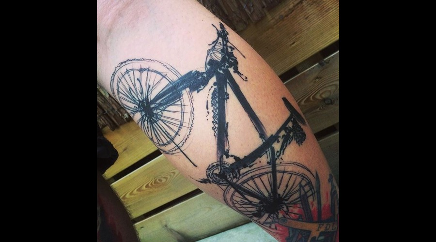 Tattoo  Art  Bike  Trashy Lower Leg
