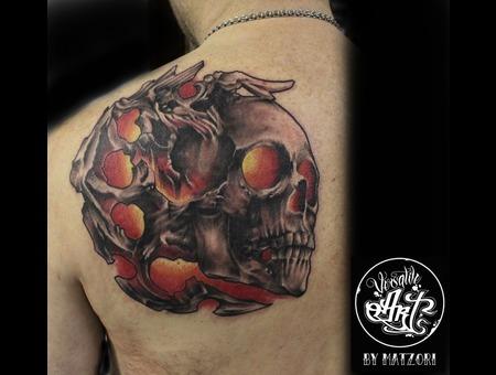 Evil  Skull  Hell Back