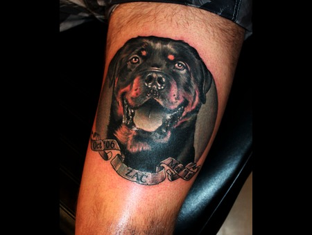 Dog  Portrait  Memorial Thigh
