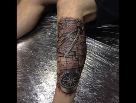 Map And Compass Lower Leg