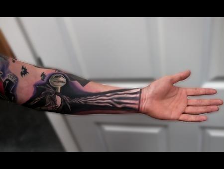 Tattoosbyhugh Panamacityfl Floridatattooartist Nightmarebeforechristmas  Forearm