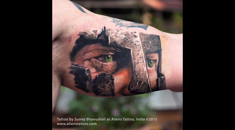 Warrior Tattoo  Spartan Tattoo Color Arm