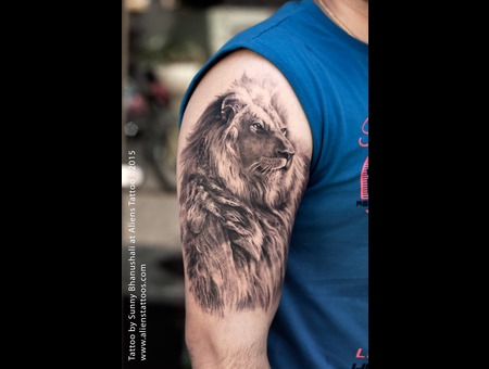 Lion Tattoo  Realistic Lion Arm
