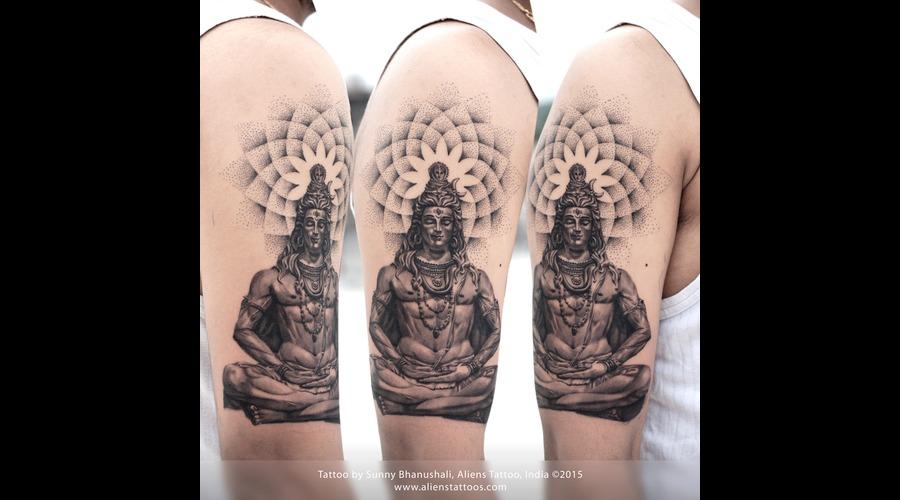 Lord Shiva Tattoo  Religious Tattoo  Shiva  Mandala Arm