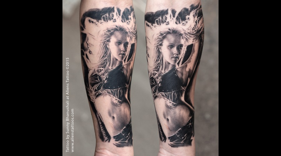 Jessica Alba Tattoo  Sin City Tattoo Forearm