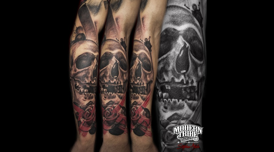 Skull  Rose Forearm