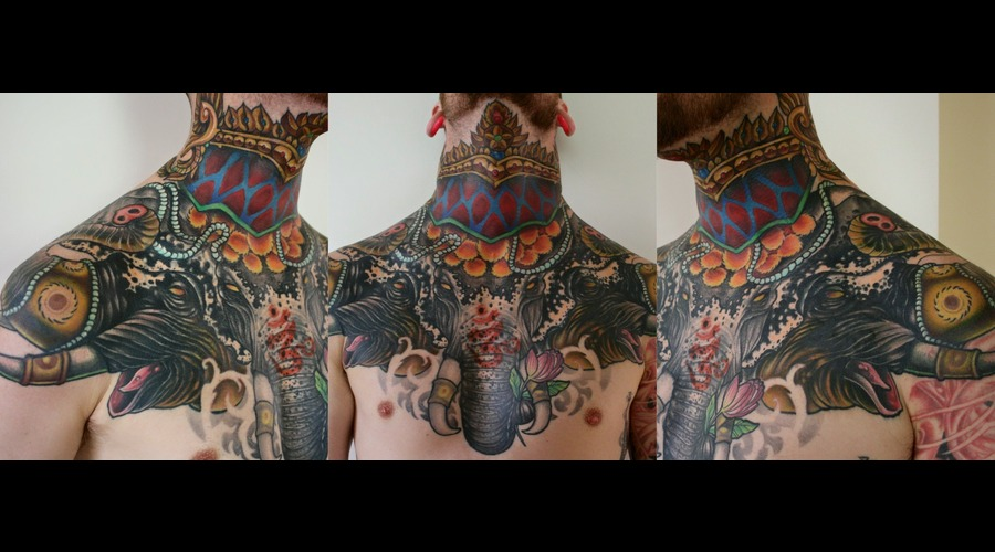 Coverup  Erawan  Elephant  Thai Chest