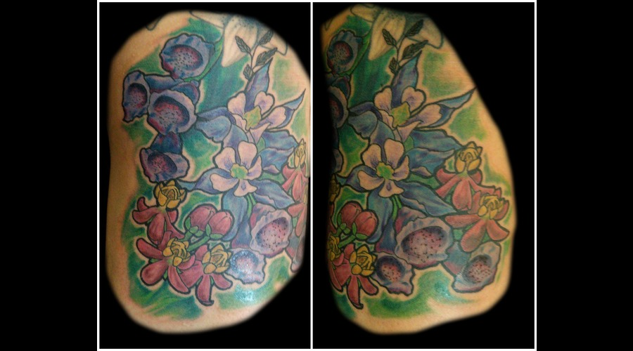 Flowers  Color Thigh