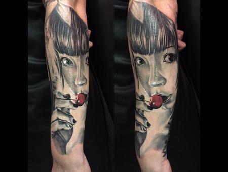#Geisha Black Grey Forearm