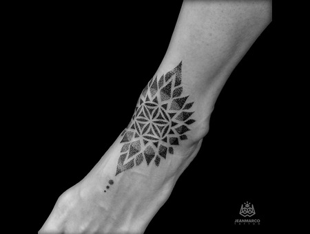 Flower Life  Mandala Foot