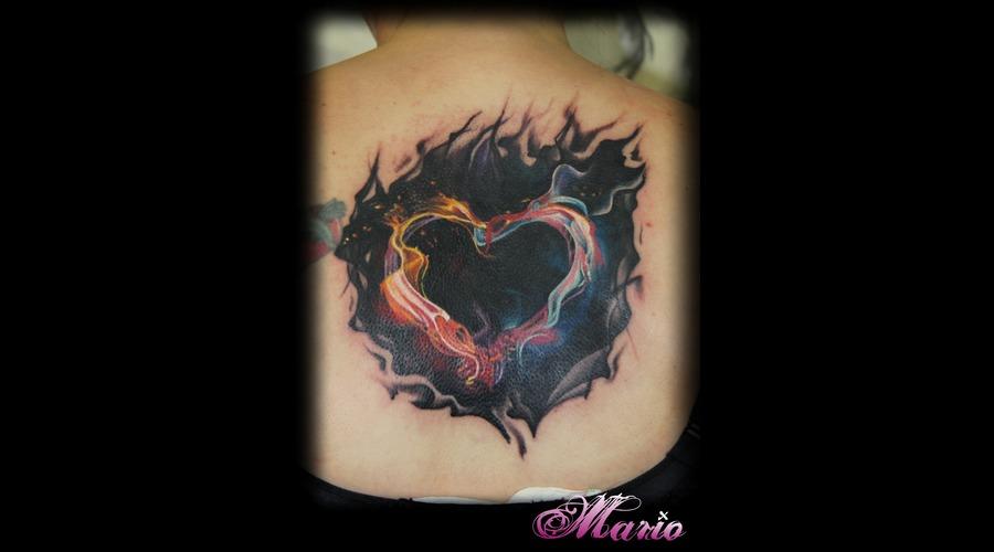 Smokey Heart Color Back