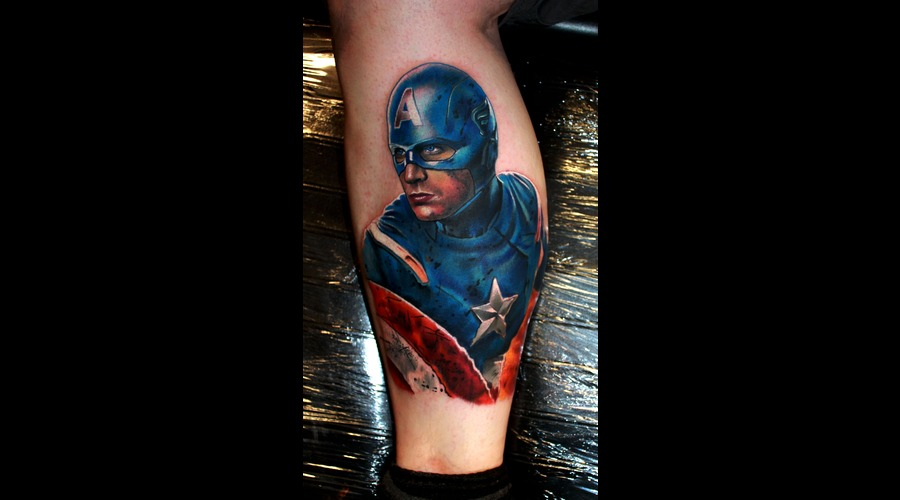 Captain America  Superhero Lower Leg