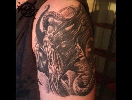 Cover Up Healed Black Grey Arm