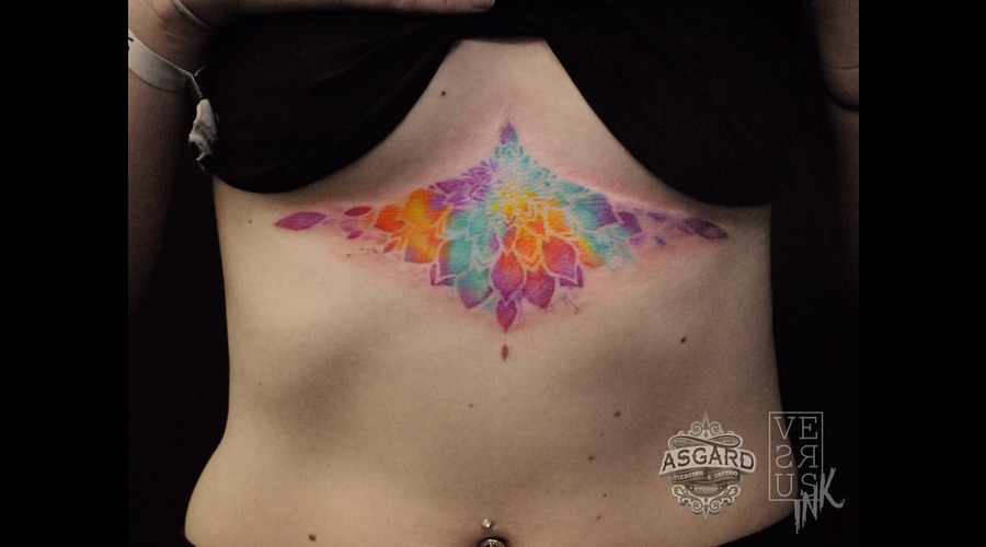 Watercolour  Geometry  Watercolor  Mandala  Art  Lace  Flower  Space  Uk Chest