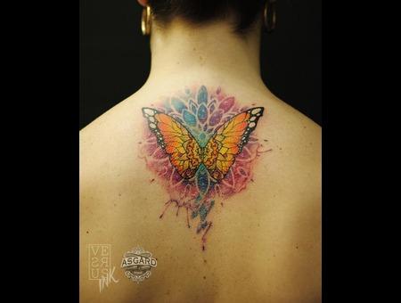 Watercolour  Geometry  Watercolor  Mandala  Art  Lace  Flower  Space  Uk Back