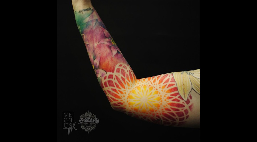 Watercolour  Geometry  Watercolor  Mandala  Art  Lace  Flower  Space  Uk Arm