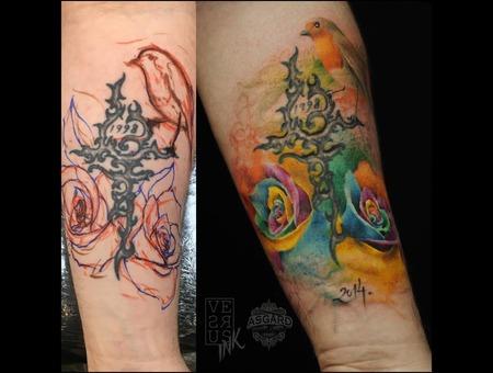 Watercolour  Geometry  Watercolor  Mandala  Art  Lace  Flower  Space  Uk Forearm