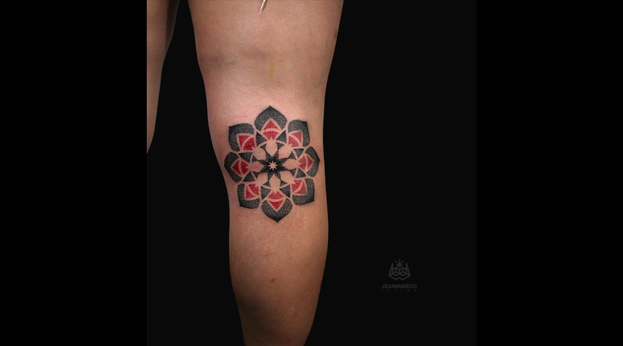 Mandala Dotwork Lower Leg