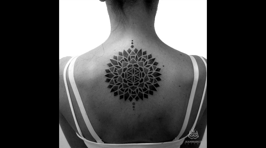 Dotwork Mandala Back