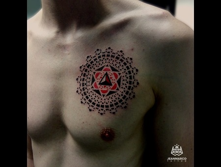 Dotwork Mandala Chest