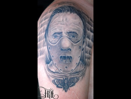 Hanibal Lektor Tattoo Black White