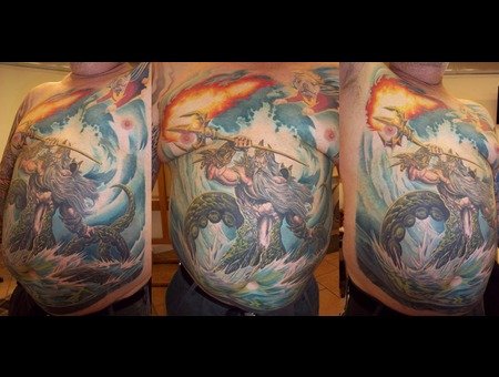 Poseidon  Greek Gods Color