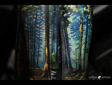 Forest Color Forearm