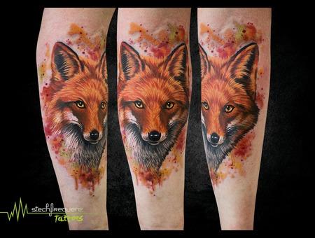 Fox  Watercolor  Realistic Color Arm